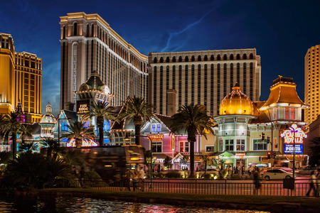las vegas night: The Venetian Resort Hotel and Casino by Night on May 2009