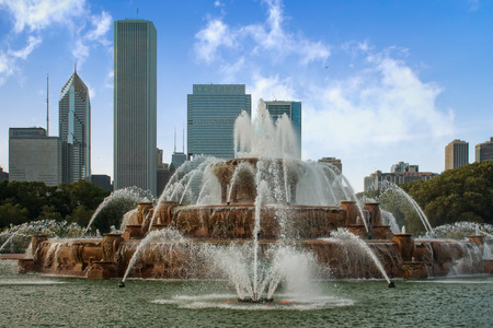emigranti: Buckingham Fountain nel Grant Park, Chicago, Stati Uniti d'America