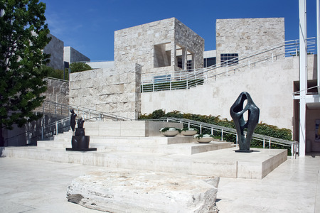 LOS ANGELES, USA - JUNE 4, 2009: The Getty Center museum in Los Angeles California USA was designed by architect Richard Meier in 1997 Editorial