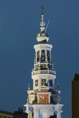 westerkerk: The Westerkerk. Night view. Amsterdam