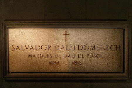 surrealist: Figueres, Spain - June 17, 2014: Salvador Dali tomb in Figeras. Salvador Dali is a famous artist and painter