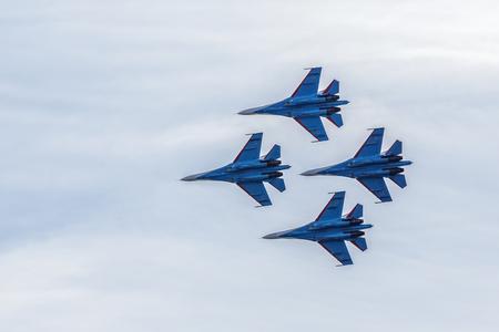 SAINTPETERSBURG RUSSIA APRIL 25 2015: Aerobatic team