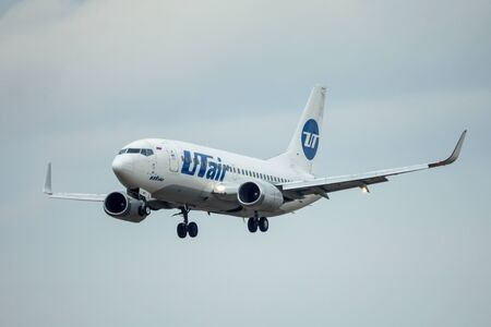 SAINT PETERSBURG, RUSSIA - APRIL 09, 2017: Flying the Boeing 737-500 (VQ-BPP) airline «UTair Aviation». Editorial