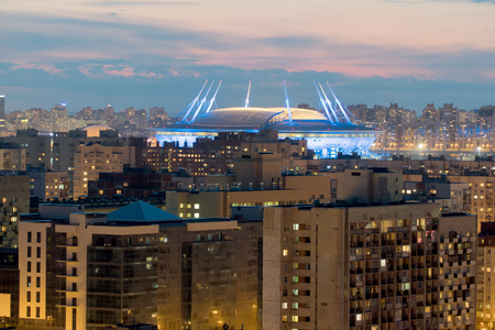 St. Petersburg. Russia. The new stadium Zenit arena. View from the height