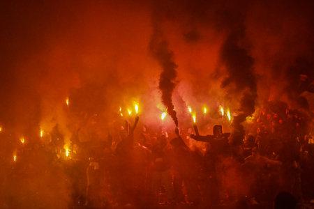 Football fans celebrating