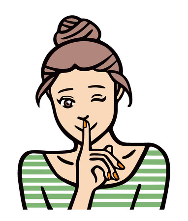 A woman wants to share some secrets  イラスト・ベクター素材