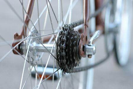 refurbished: Refurbished retro bicycle close up
