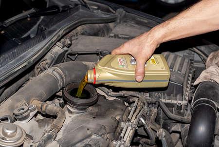 Varna, Bulgaria - Feb 5, 2021: 1L plastic bottle of motor oil Castrol Edge FST 5W-30 LL. Advanced full synthetic engine lubricant.
