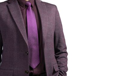 man in suit on a White background. studio shot.