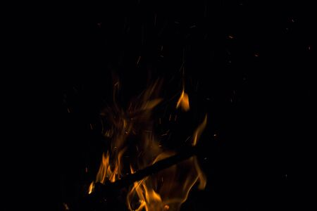fire place: A nice fire in a fire place Stock Photo
