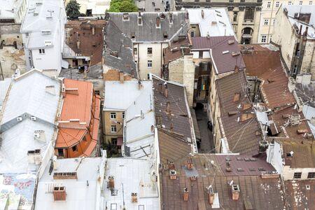 western european: western european city Lviv, architecture background Stock Photo