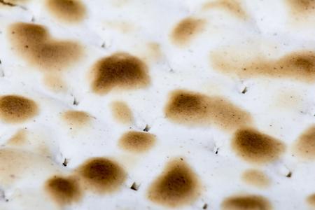 matzah: Texture of jewish passover matzah (unleavened bread). Stock Photo