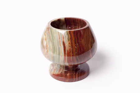 onyx: The isolated bowl from onyx on a white background