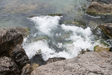 repose: Stones at the bottom of the Mediterranean Sea the Fig Tree Beach Protaras Cyprus Stock Photo