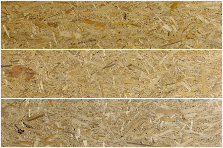 oriented: Pressed wooden panel background seamless texture of oriented strand board - OSB Set