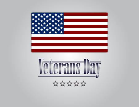 honoring: Veterans Day. Honoring all who served. Usa flag on background. Stars