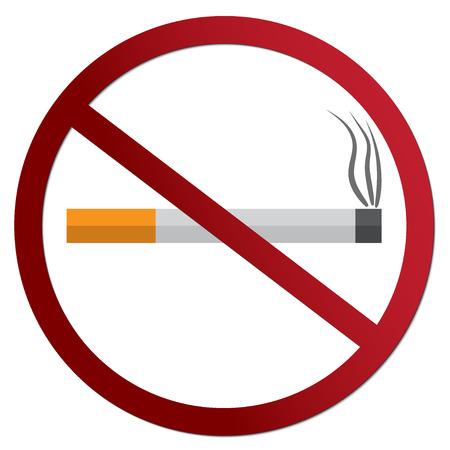 世界没有烟草日,平的设计传染媒介例证