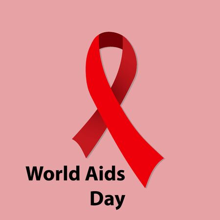 relaciones sexuales: 1st December, World Aids Day concept with stylish text on red background.