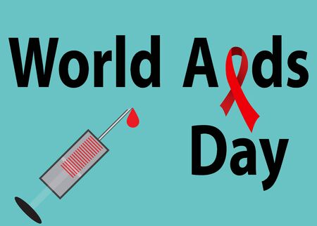 aids: Aids Awareness Red Ribbon. World Aids Day concept. Vector Illustration Illustration