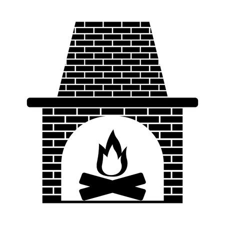 mantelpiece: fireplace icon stock vector illustration flat design Illustration