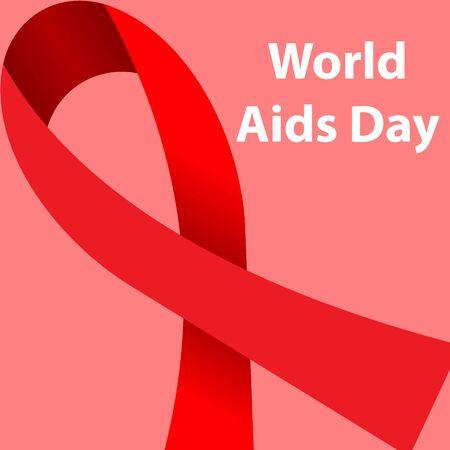 Set Of Aids Awareness Posters World Aids Day Symbol Ribbon