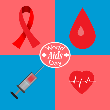 Aids Awareness. World Aids Day concept. Vector illustration EPS10 Illustration