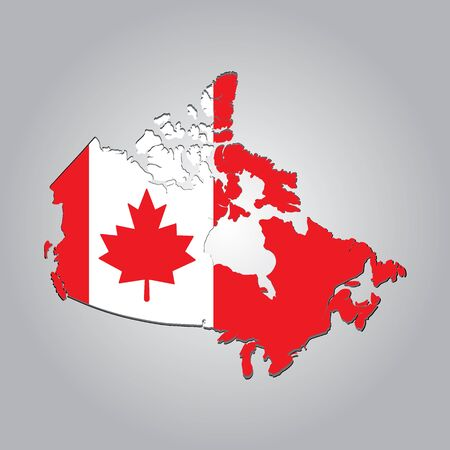 Map of CANADA with separable borders in vector art. Sizable to any dimension - You got ALL the provinces in one file Illustration
