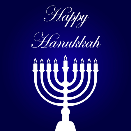 with text and traditional elements for hanukkah celebrations Illustration