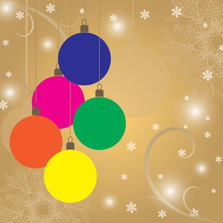 A Retro Christmas background with Christmas balls