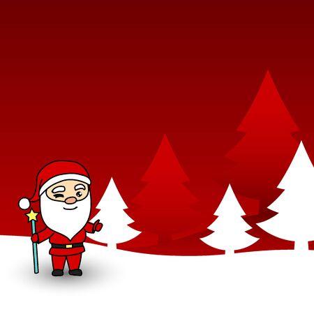 Christmas card with Santa Claus. Vector illustration. Illustration