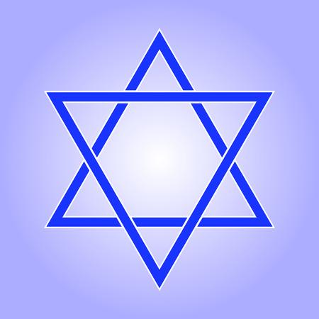 Star of David icon. Star of David flat style. Star of David isolated on white background. Star of David logo. Vector illustration Illustration