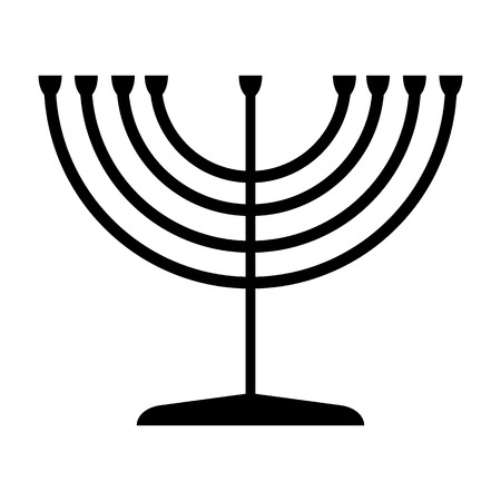 Menorah symbol of Judaism. Illustration isolated on white background. Illustration