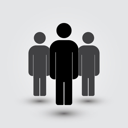 equal opportunity: Illustration of crowd of people - icon silhouettes vector