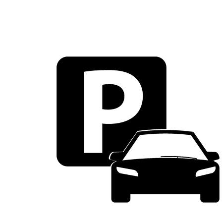 valet: Car icon isolated, parking sign, car parking, valet. Flat design, vector image vector Illustration