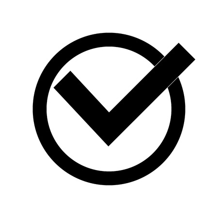 confirm: confirm icons vector illustration. Flat design style