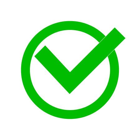 Ilustración Vectorial Casilla De Verificación Verde Aislado En El Fondo  Blanco Ilustraciones Vectoriales, Clip Art Vectorizado Libre De Derechos.  Image 91509318.