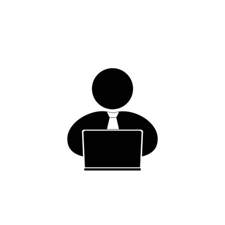 person computer: people with computer, person  laptop icon.