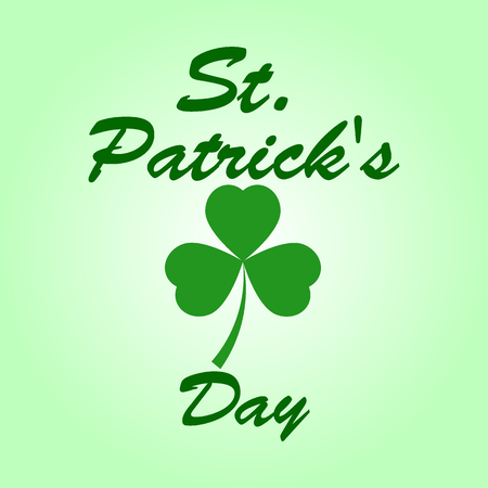 Patrick s day Clover leaf on a white background Stock Photo