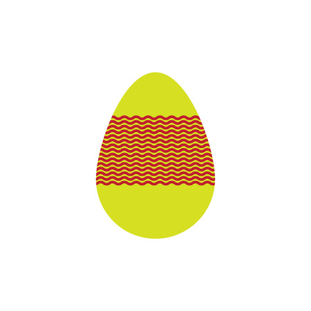 Easter egg for your design. Located on a white background