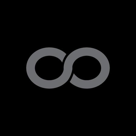 Infinity symbol isolated