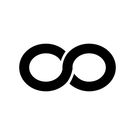 Infinity symbol isolated