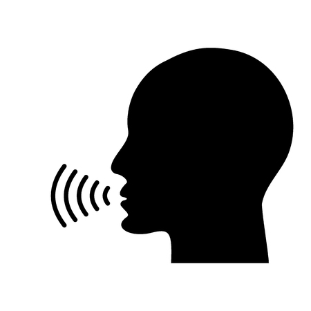 Voice talking icon
