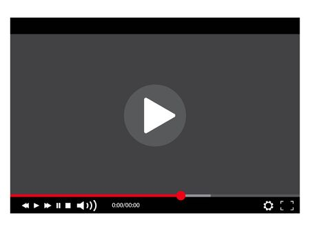 Video Player Vector illustration Illustration