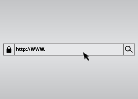 Search bar in the browser. Web link form background Illustration