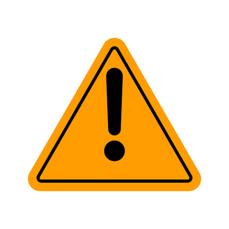 yellow beware: Hazard warning attention sign with exclamation mark symbol