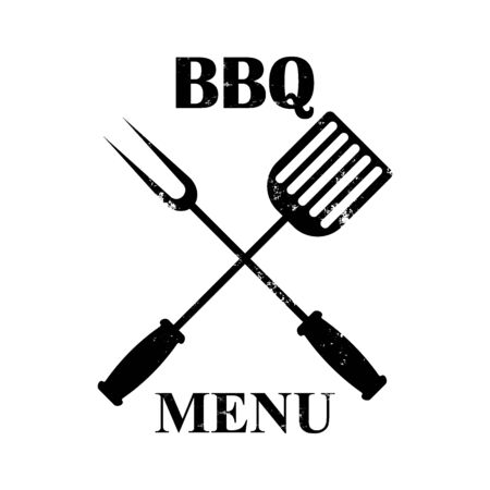grill menu isolated