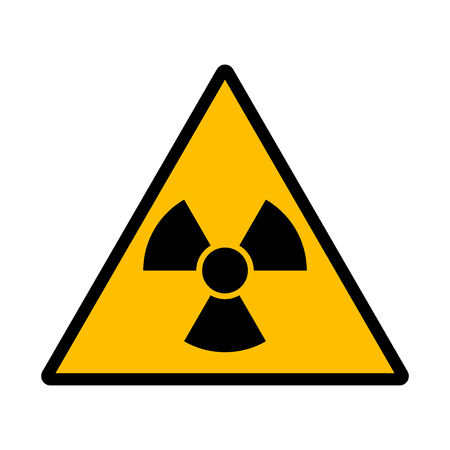 atomic symbol: Danger radiation sign