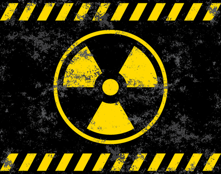 A danger radiation sign