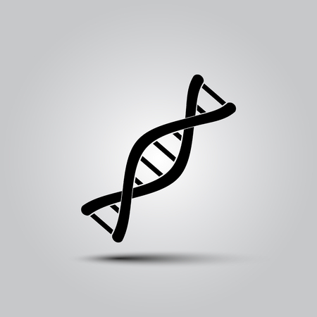 The dna icon. DNA symbol.