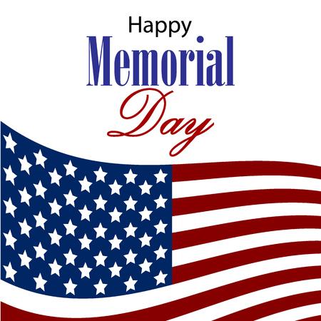 Vector Happy Memorial Day tarjeta.